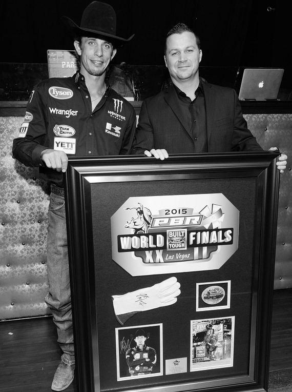 J.B. Mauney and Chad Brown at the PBR Official Launch Party at LAX Nightclub