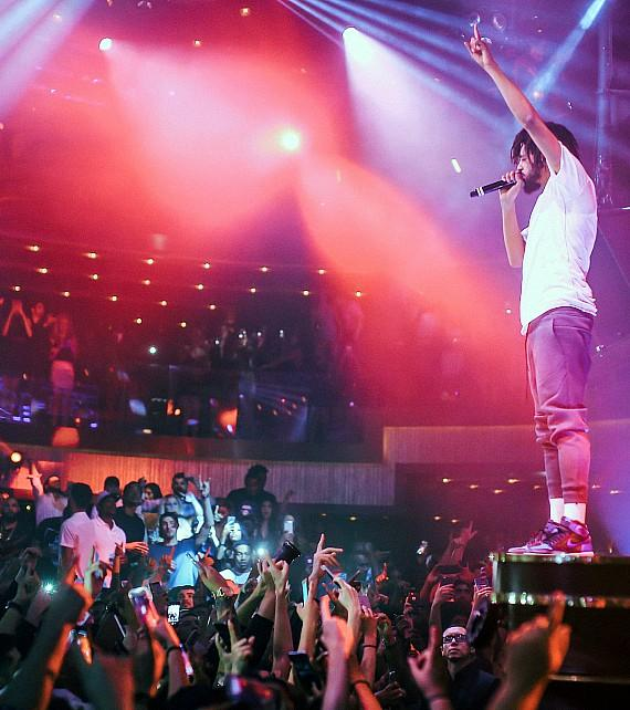 "J. Cole Performs at JEWEL Nightclub Las Vegas for ""The Good Life Fridays"""