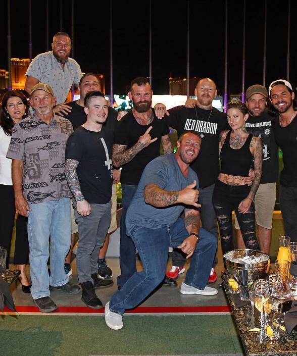 BMX star TJ Lavin and friends at Topgolf Las Vegas