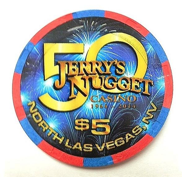 Jerry's Nugget Casino Releases Collectible $5 Gaming Chip to Commemorate 50 Year Golden Anniversary
