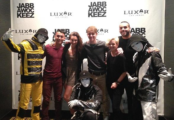 "Aaron Turner and Former ""So You Think You Can Dance"" Contestants Visit Jabbawockeez Show in Las Vegas"