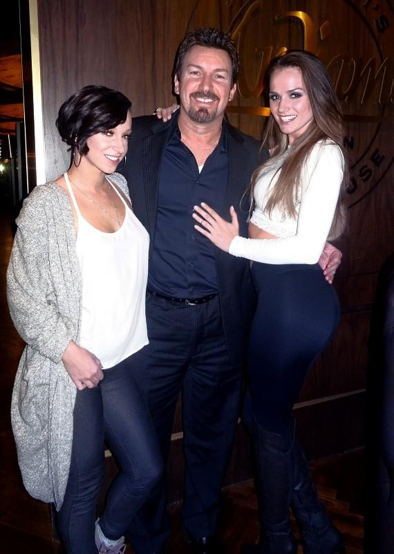 Jada Stevens, Richard Wilk and Tori Black at the D Las Vegas