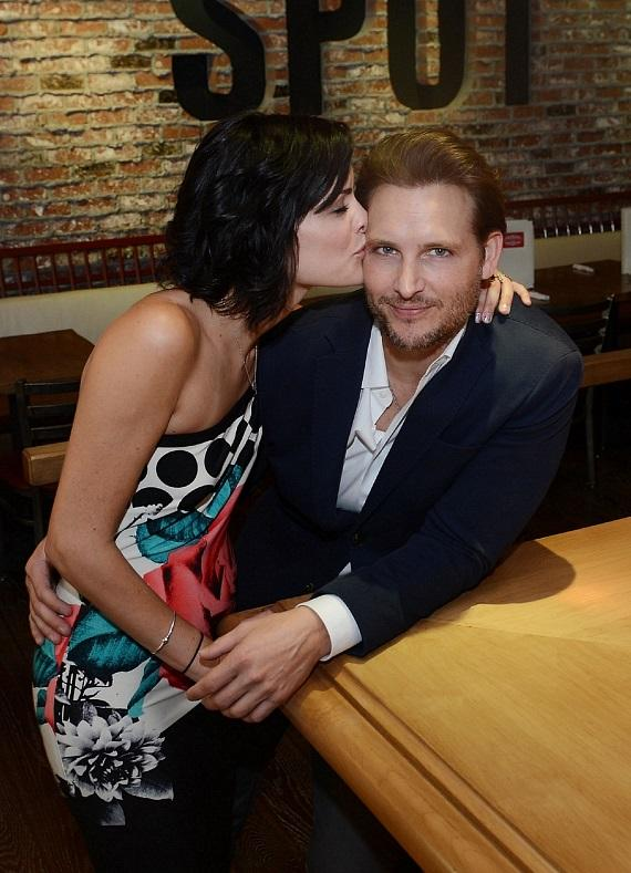 Jaimie Alexander kisses Peter Facinelli at Meatball Spot