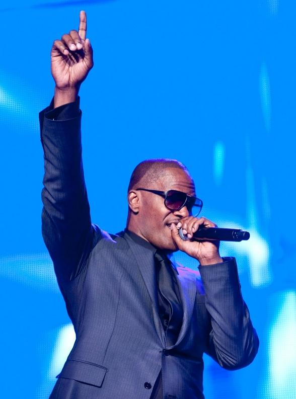 Jamie Foxx performs at MJCI celebration in Las Vegas