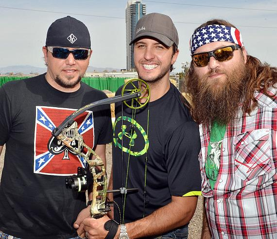Jason Aldean, Luke Bryan and Willie Robertson