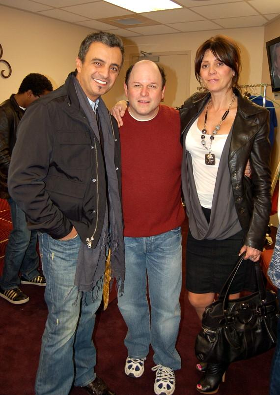 Poker champ Joe Hachem and Jason Alexander