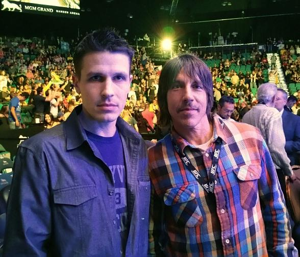 Fright Dome owner Jason Egan and Red Hot Chili Peppers singer Anthony Kiedis at UFC183