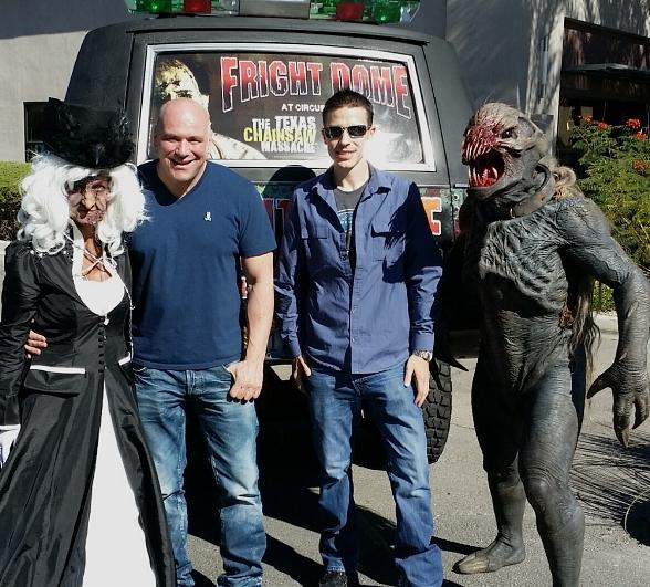 Fright Dome Owner Jason Egan with Dana White at UFC's Annual Halloween Party