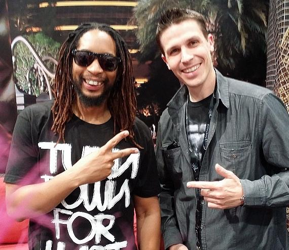 Rapper Lil Jon with Fright Dome owner Jason Egan at Nightclub & Bar Show in Las Vegas