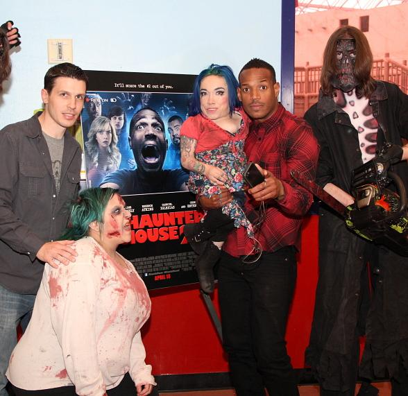 "Marlon Wayans Promotes New Film ""Haunted House 2"" at Circus Circus in Las Vegas"