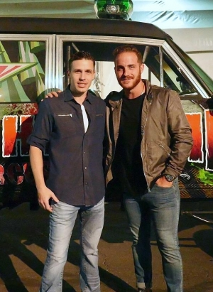 "Vinny Ventiera of ABC's ""The Bachelorette"" visits Fright Dome at Circus Circus in Las Vegas"