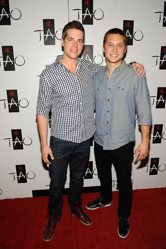 Jason Kennedy and Jordan Wagner at TAO