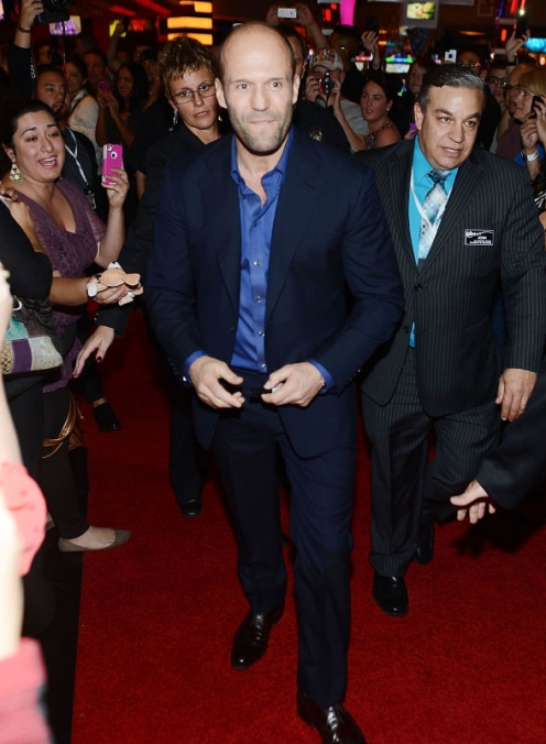 Actor Jason Statham Dines at Nobu Restaurant and Lounge Caesars Palace