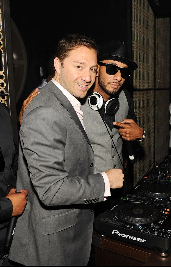 Jason Strauss & Swizz Beatz at LAVO