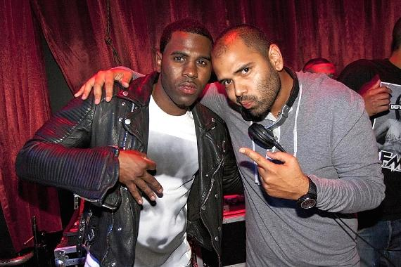 Jason Derulo and DJ Gusto at LAX Nightclub