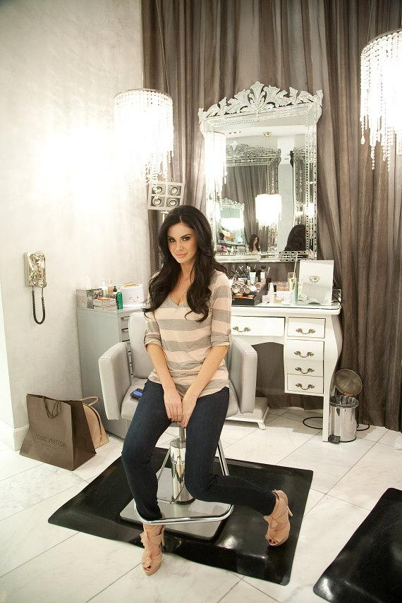 Jayde Nicole looks beautiful after getting primped and perfected at COLOR: A Salon by Michael Boychuck at Caesars Palace in Las Vegas