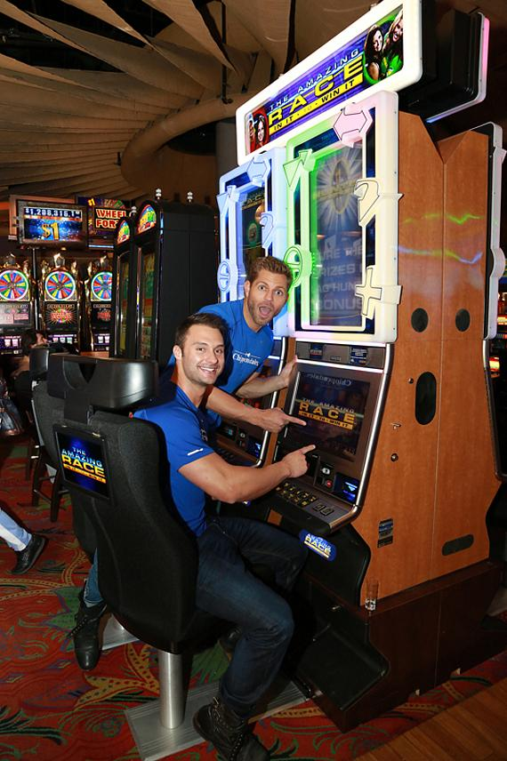 Jaymes and James with Amazing Race In It to Win It Slots