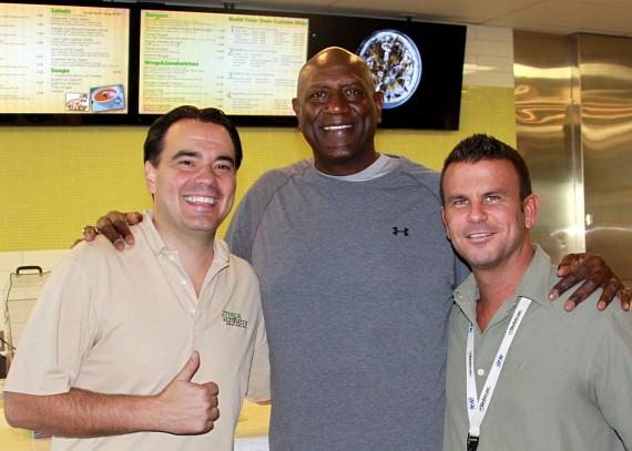 Jeff Kovatch, Spencer Haywood and John Kinney at Greens & Proteins