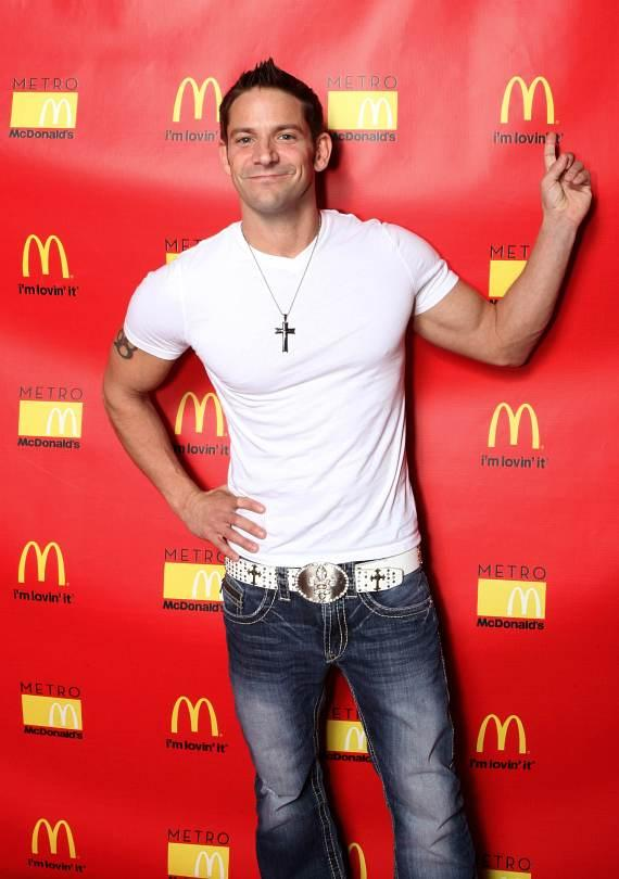 Jeff Timmons of 98 Degrees on red carpet at Metro McDonald's in Las Vegas