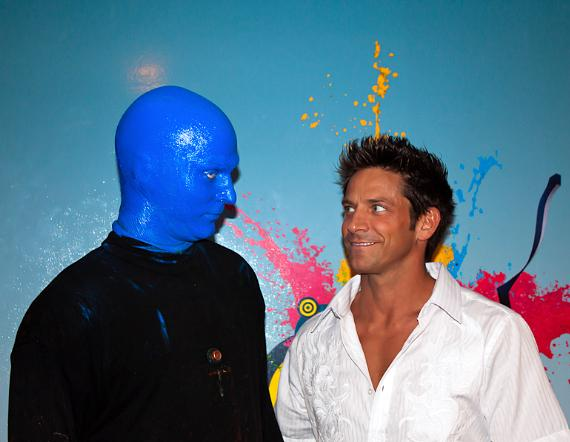 Jeff Timmons attends performance of Blue Man Group