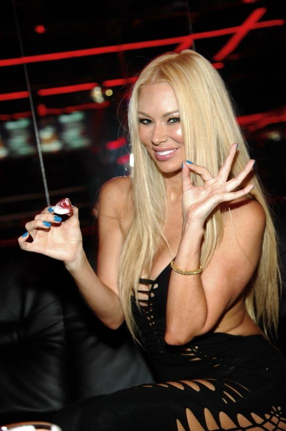 Jenna Jameson enjoying strawberries and whipped cream inside Crazy Horse III
