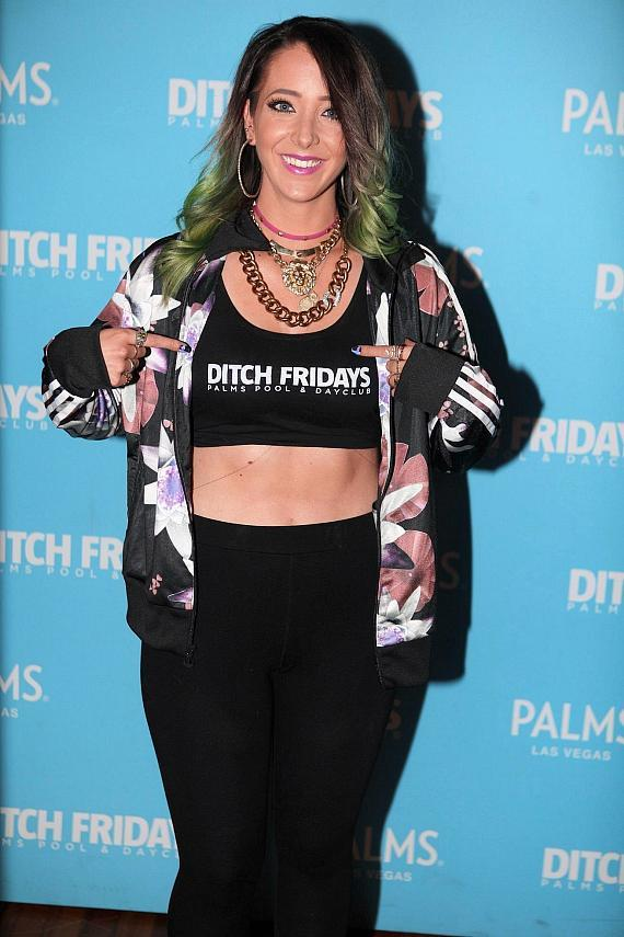 Jenna Marbles arrives at Ditch Fridays