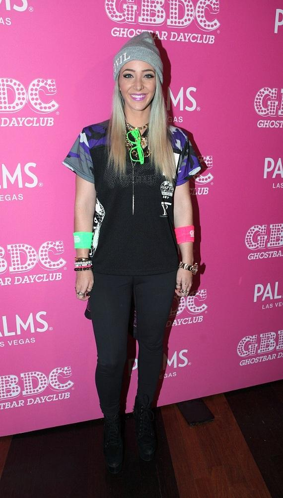 Jenna Marbles arriving to Ghostbar Dayclub inside Palms Casino Resort