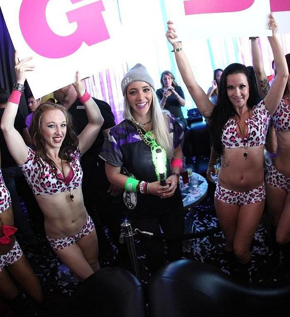 Jenna Marbles kicks off season opener of Ghostbar Dayclub with gorgeous go go dancers
