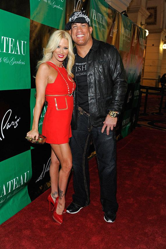 Jenna Jameson and Tito Ortiz arrive at Chateau Nightclub & Gardens at Paris Las Vegas