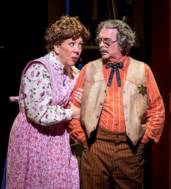 Jennifer Perry as Aunt Pearlie and Jay Rogers as Uncle Fate. Original Las Vegas Cast of Idaho!