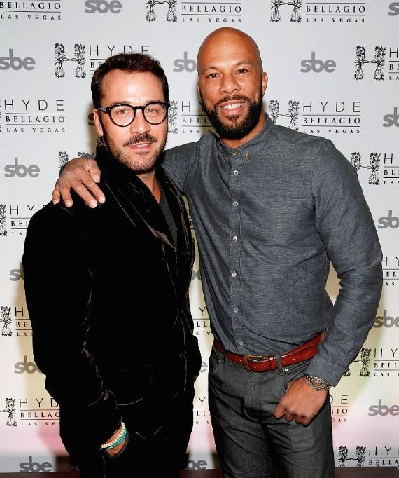 Jeremy Piven and Common at Hyde Bellagio