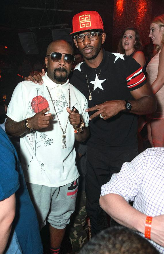Jermaine Dupri and Chris Paul at TAO
