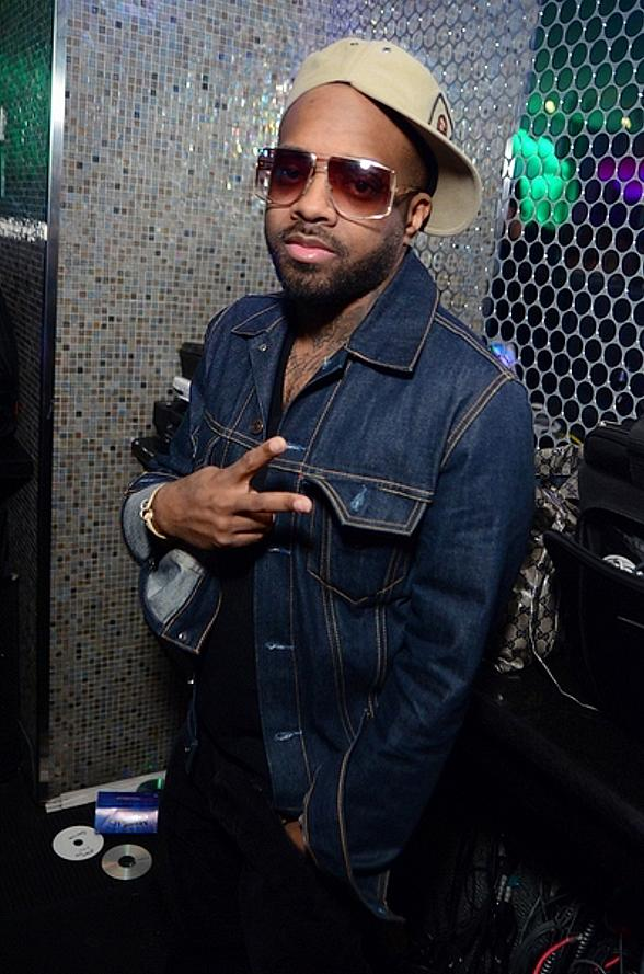 Jermaine Dupri parties at ghostbar in Palms Casino Resort