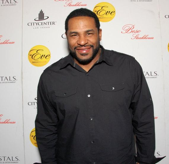 Jerome Bettis walks the red carpet at Eva Longoria's Beso Steakhouse and Eve Nightclub at Crystals CityCenter Las Vegas