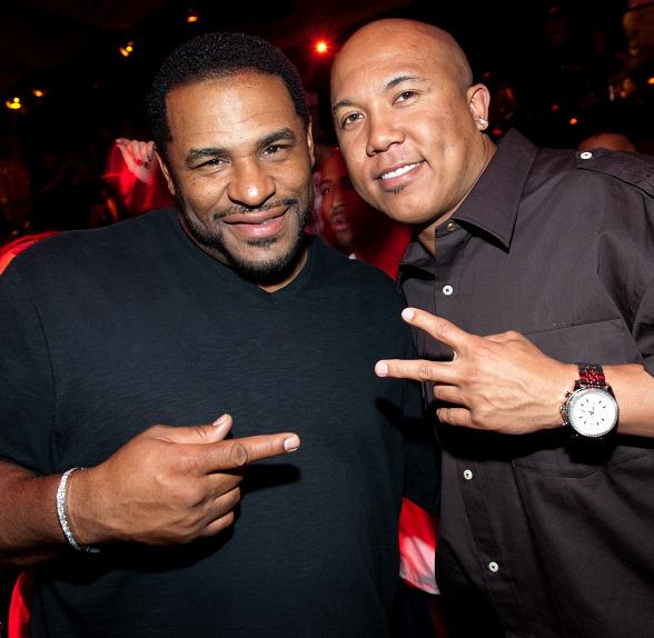 Jerome Bettis & Hines Ward at TAO