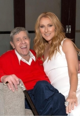"Comedy Legend Jerry Lewis visits ""Celine"" at The Colosseum at Caesars Palace"