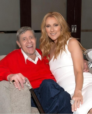 "Comedy Legend Jerry Lewis visits ""Celine"" at at The Colosseum at Caesars Palace"