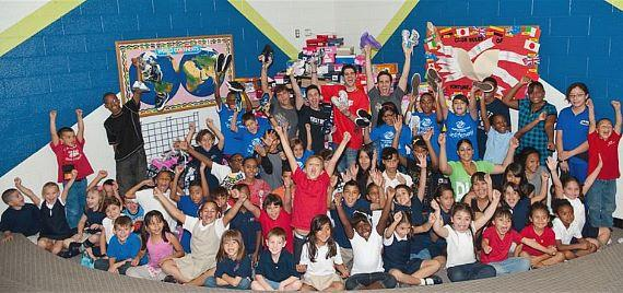 Jersey Boys Deliver 3,000 pairs of shoes to the Boys & Girls Clubs of Las Vegas