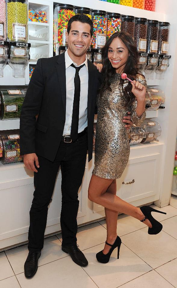 Jesse Metcalfe and fiancée Cara Santana at the flagship Sugar Factory retail store at Paris Las Vegas