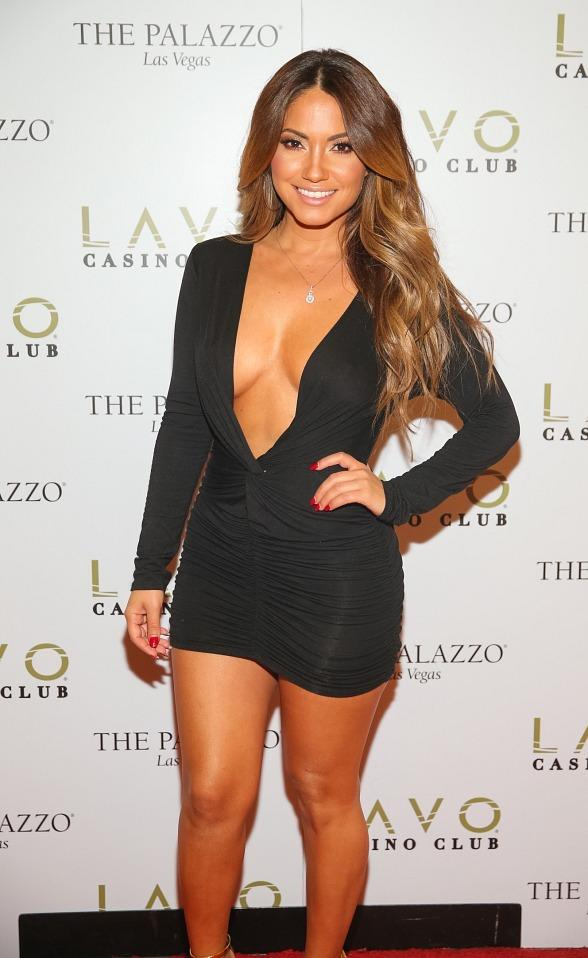Jessica Burciaga plays Blackjack at LAVO Casino Club at The Palazzo