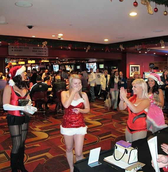 Jessica Roadhouse wins 2012 Miss Santa's Helper at Golden Gate Hotel & Casino, Las Vegas