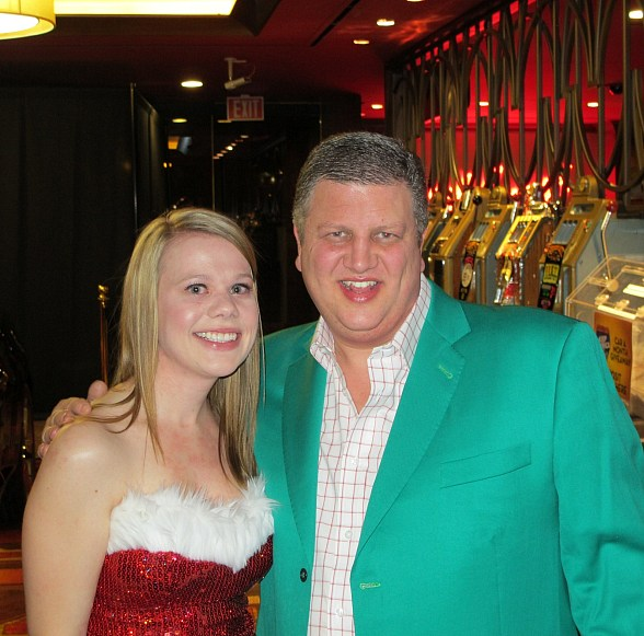 Jessica Roadhouse with Co-Owner Derek Stevens, Golden Gate Hotel & Casino, Las Vegas