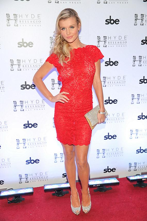 Joanna Krupa poses on the red carpet at Hyde Bellagio