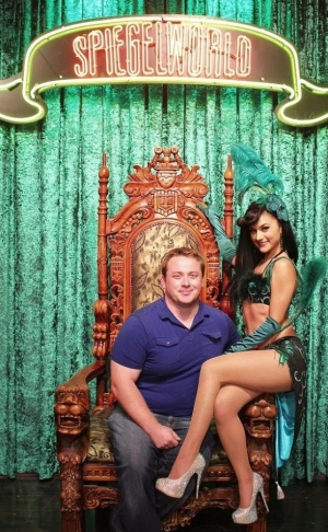 Joe Harris with Melody Sweets at ABSINTHE