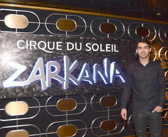Joe Jonas at Zarkana