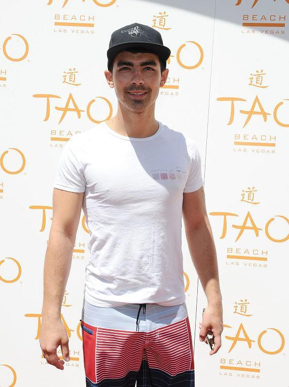 Joe Jonas on TAO Beach red carpet