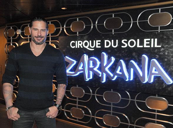 True Blood star Joe Manganiello at Zarkana