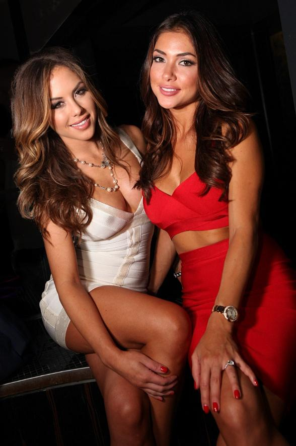 UFC Octagon Girls Arianny Celeste and Brittney Palmer at HAZE at ARIA on July 4