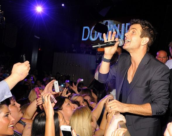 Joey McIntyre performs inside Chateau Nightclub & Gardens
