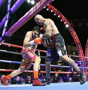 Boxing action fills the air of Downtown Vegas! Presented by Roy Jones Jr. ,